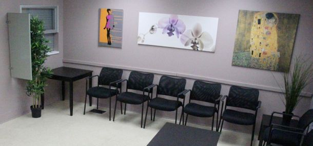 Water Street Clinic waiting room